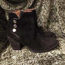 Jeffrey Campbell Black Suede Ankle Zipper Heel Bootie Boots 8.5 Photo