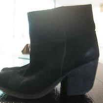Jeffrey Campbell Black Suede Boots Size 7 - Preowned Photo