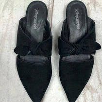 Jeffrey  Campbell Black Suede Bow Mules 7.5 Photo