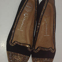 Jeffrey Campbell Black Suede Gold Stud Marti Loafers/flats Size 8 Photo