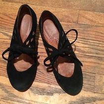 Jeffrey Campbell Black Suede Lace Up Wedge Size 8.5 M.
