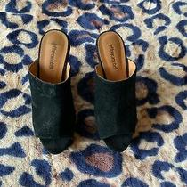 Jeffrey Campbell Black Suede Wedges 9 Mules Photo
