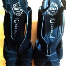 Jeffrey Campbell Black Suede Wedges Size 8 Photo