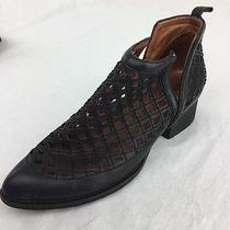 Jeffrey Campbell Black Taggart Ankle Boot Ladies Size 8 Photo