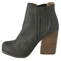 Jeffrey Campbell Black the Knock Out Suede Booties Size 8 Photo