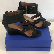 Jeffrey Campbell Black Wedge Sandals Size 9 Photo