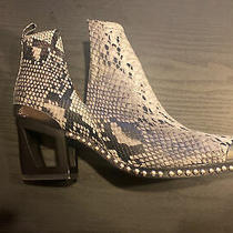 Jeffrey Campbell Black White Snake Print Optimum Mhs Boot Size 9 Silver Studs Photo