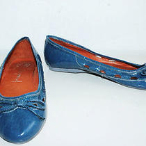 Jeffrey Campbell Blue Leather Flats Sz 12 Photo