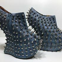 Jeffrey Campbell Blue Mermaid Stud Spiked Nightwalkers Shadow Platform Booties 7 Photo