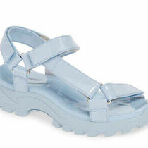 Jeffrey Campbell Blue Patio  Sport Sandal New in Box Patent Leather Size 8 Photo