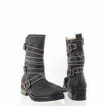 Jeffrey Campbell Bode Womens Shoes Black Synthetic High Ankle Boots Sz 8.5 M New Photo