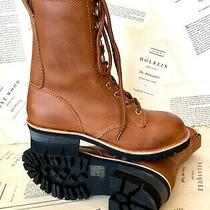 Jeffrey Campbell Boot Combat Moto Lace Up Brown Tan Leather 7 New Photo