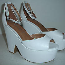 Jeffrey Campbell Brazen Platform White Peep Toe New Size 9 Us Other Sites 120 Photo