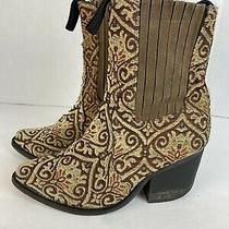 Jeffrey Campbell Brown Embroidered Ankle Boots Womens Size 7 Photo
