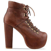 Jeffrey Campbell Brown Everest High Heel Boots Uk 7 (Us 10/eur 40) Photo