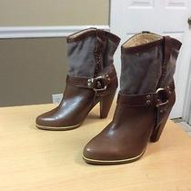 Jeffrey Campbell Brown Leather Ankle Boots Women Sz 8 Photo