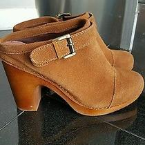 Jeffrey Campbell Brown Leather Clogs Slip Ons Heels Us9 Photo