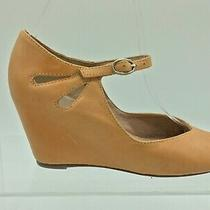 Jeffrey Campbell Brown Leather Wedge Heel Sandal Size 7 Photo