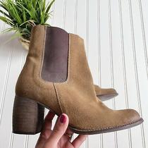Jeffrey Campbell Brown Suede Block Heel Boots Womens Size 9 Photo