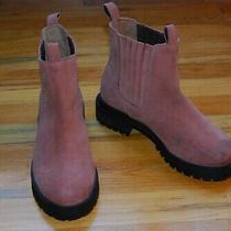 Jeffrey Campbell Brown Suede Chelsea Booties Rubber Soles / Women's Size 7.5 Photo