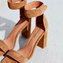 Jeffrey Campbell Brown Suede Holvey Sandals Womens Ankle Strap Platform 8.5 Photo