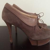 Jeffrey Campbell Brown Suede Platform Stiletto Booties Size 8 Photo