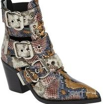 Jeffrey Campbell Caceres Booties Boots Leather Snakeskin Print Sz 6 New Photo