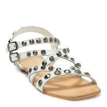 Jeffrey Campbell Calath Studded White Leather Sandals Sz 9 New Photo