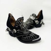 Jeffrey Campbell Calhoun Black Leather Cutout Western Bootie Us Size 6 Studded Photo