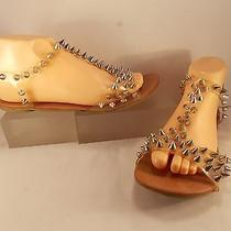 Jeffrey Campbell California Flat Silver Studded Rubber Sandal 8 M 198.00 Photo