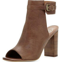 Jeffrey Campbell Canal Leather Peep-Toe Bootie 8 155.00 Photo