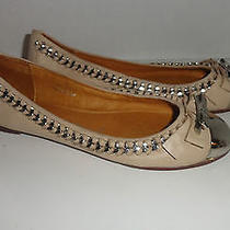 Jeffrey Campbell Carrie B Ballet Flat Loafer Slip on Cream Nude Chain Bow 7.5 Photo