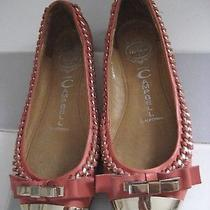Jeffrey Campbell Carrie B Cap Toe Ballet Flat Size 7m Coral/gold Photo