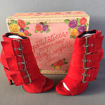 Jeffrey Campbell Cinturon Suede Bootie Size 8 New in Box  Photo