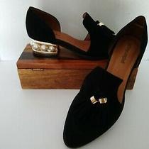 Jeffrey Campbell Civil Pearl Heels Black Suede Shoes Sz 9 Photo