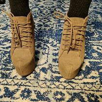 Jeffrey Campbell Claw Suede Tope Wedge Booties Boots Shoes Size 7.5 Photo