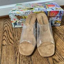 Jeffrey Campbell - Clear Acetate Wedge Mule - Size 6 - New in Box Photo
