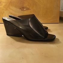 Jeffrey Campbell Clear Smoky Lucite Wedge Sandal 10 Photo