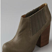 Jeffrey Campbell Clift Distressed Leather Bootie Size 9 Brown Photo