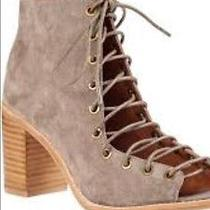 Jeffrey Campbell Cors 6 Lace Up Peep Toe Heel Boot Taupe Photo