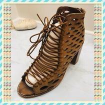 Jeffrey Campbell Cors Vintage Tan Sandals Booties Heels - Size 7 Photo