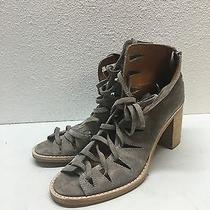 Jeffrey Campbell Corwin Taupe Suede Open Toe Booties Womens Size 8 Photo