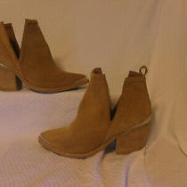 Jeffrey Campbell Cromwell' Cutout Western Booties Brown Suede Leather Sz Us 7 Photo