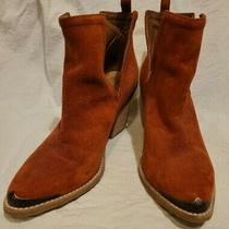 Jeffrey Campbell Cromwell Western Boots Booties Rust Suede Size 9 Photo