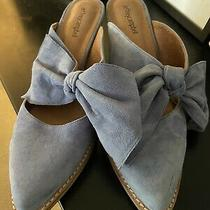 Jeffrey Campbell Cyrus Lavender  Suede Bow Mules 10 Photo