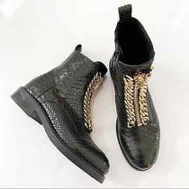 Jeffrey Campbell Damon Z Snake Combat Boots Size 7.5 Photo
