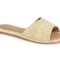Jeffrey Campbell Dane Woven Slides Natural Raffia Sandals Womens Size 6 Photo