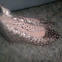 Jeffrey Campbell Delaisy Bronze Wedge Heels Laser Cut Shoes  Size 9m Photo