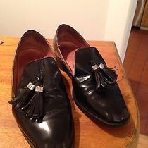 Jeffrey Campbell Designer Lawford Black Leather Loafers Size 10 Photo