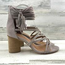 Jeffrey Campbell Despina Sandal Strappy Stacked Block Heel Taupe Women's Size 7 Photo
